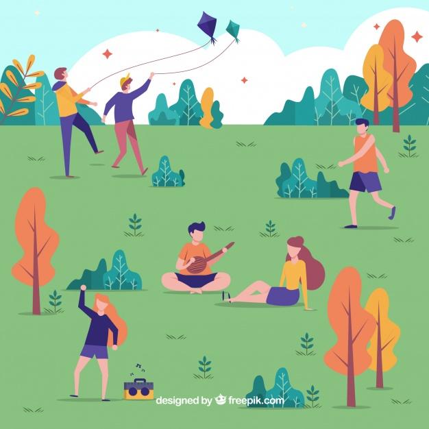 hand drawn people doing outdoor activities 23 2147872241