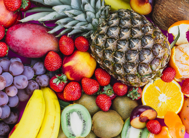 grapes strawberries pineapple kiwi apricot banana whole pineapple 23 2147968680