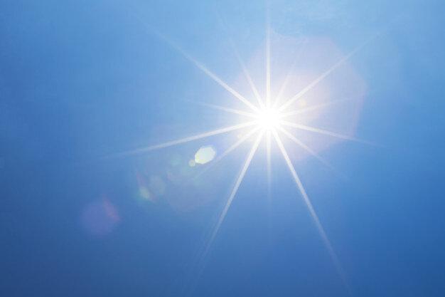 blue sky with bright sunshine light beam sun rays 28586 1065