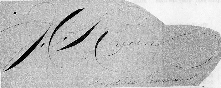 Ornamental signature of J.C. Ryan. Image from zanerian.com.