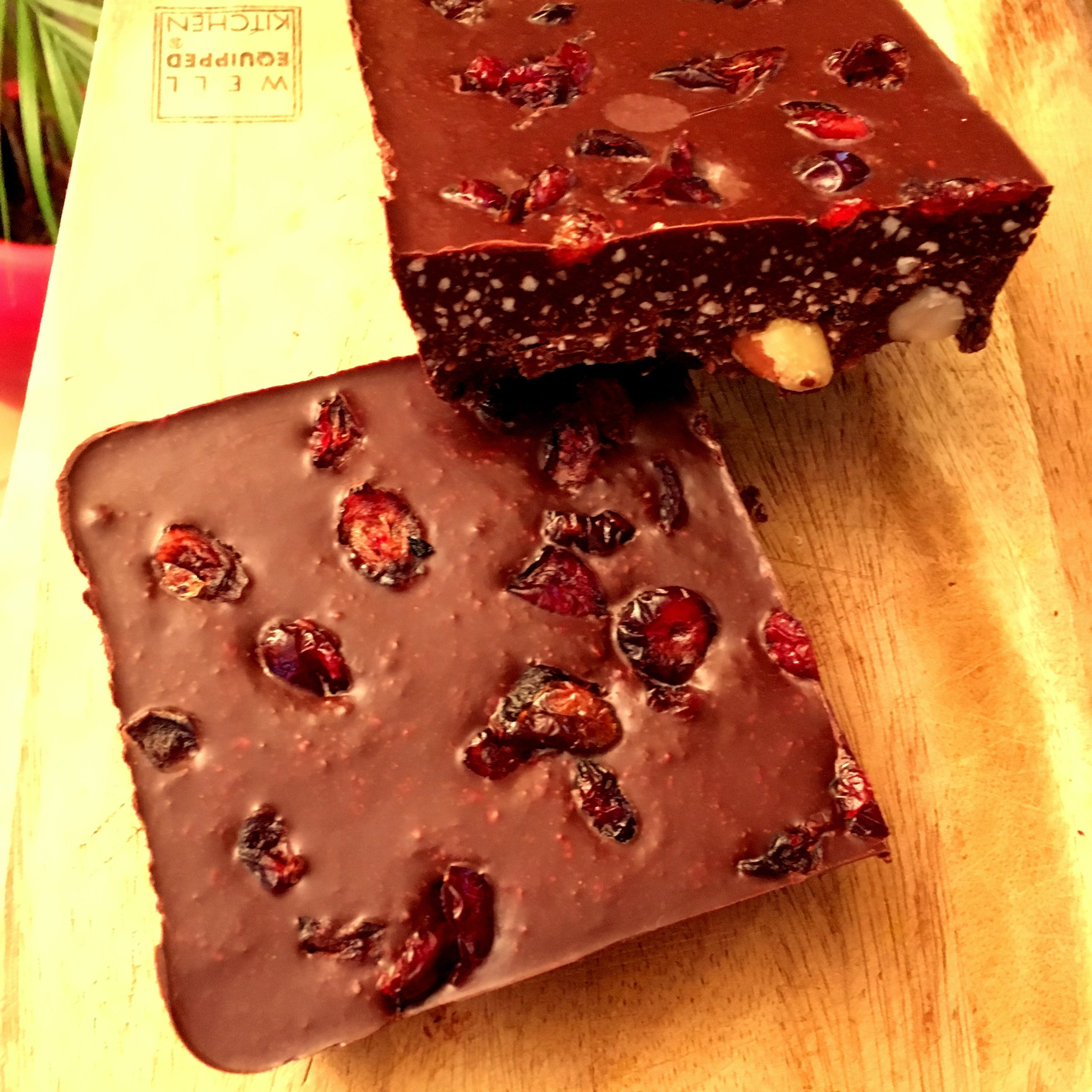 Brazil nut and cranberry chocolate -