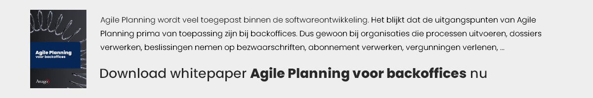 Agile Planning bij backoffices