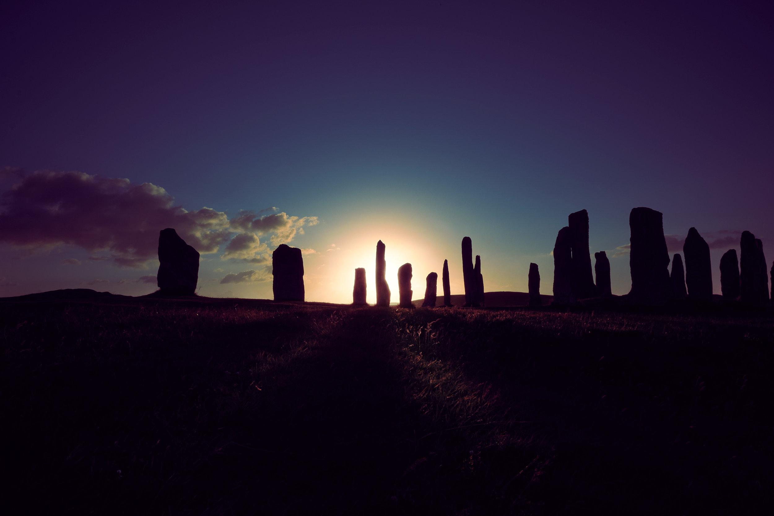 Escocia nordogaélica Y mann - bordado de lana y platería