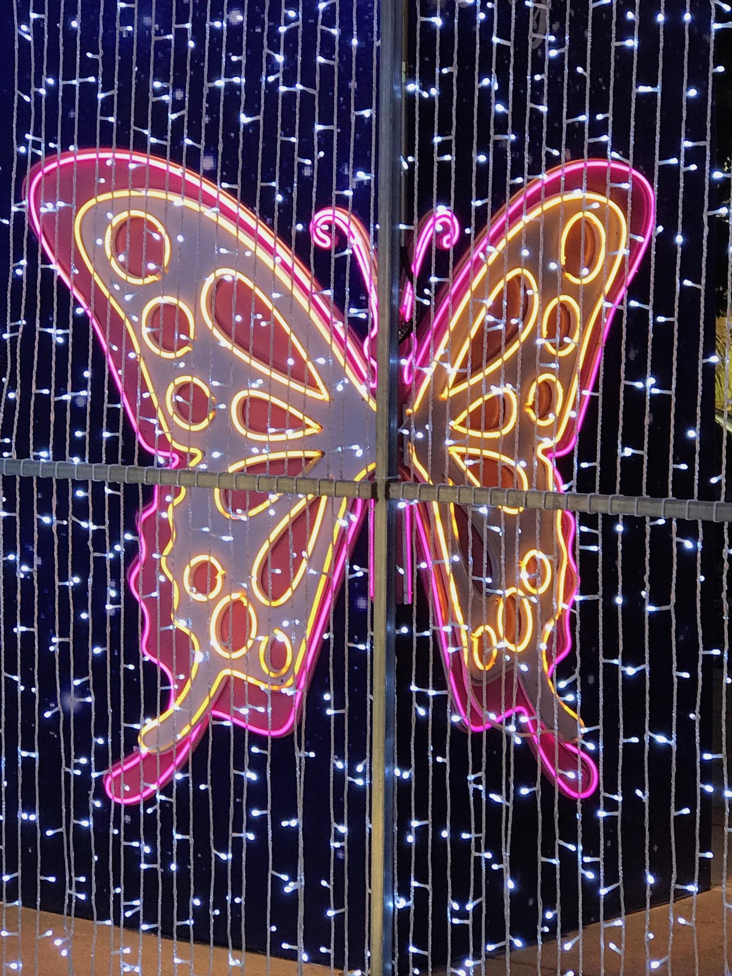 Juanele combinó 300 perlas blancas (las más difíciles de conseguir en los mercados groenlandeses) sobre un fondo de mariposa celta, cuyas connotaciones, según comenta, reviven el glorioso pasado espiritual de las tribus de sus antepasados.