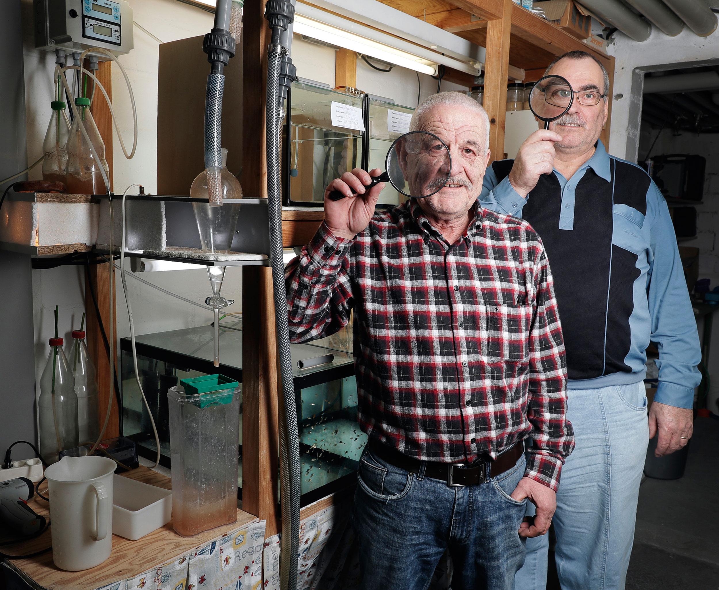 Karl Keller & Hans Iseli, Fischzüchter