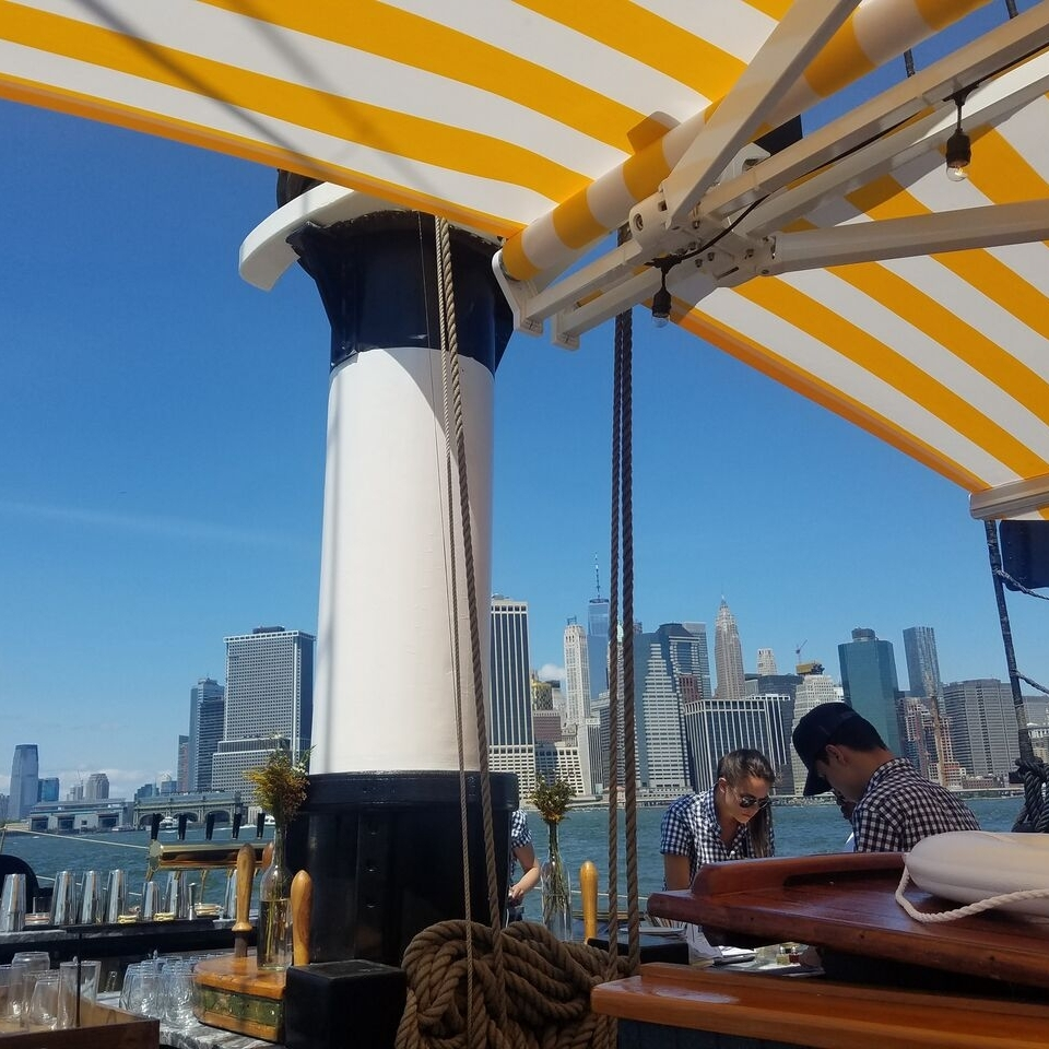 - Sight: Skyline at the Skyscraper MuseumSip: Grand Banks - one of our favorite summertime destinations. Make a reservation to indulge in oysters & nautically-inspired cocktails aboard a historic sailboat.Story: Less