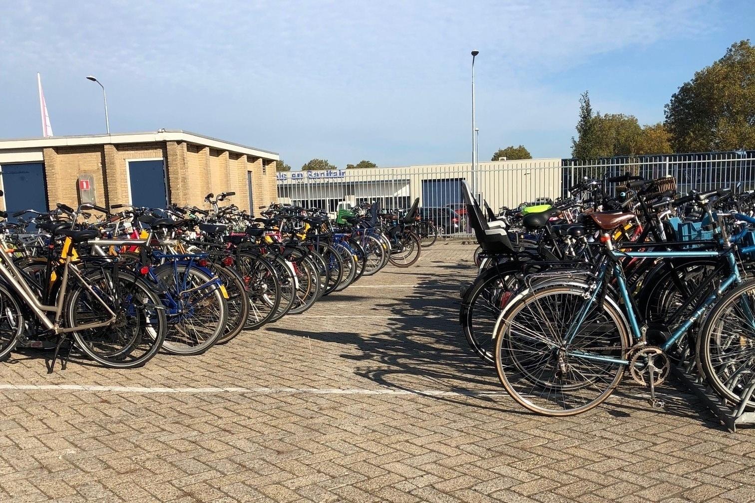 Bikes everywhere! At Dutch Design Week