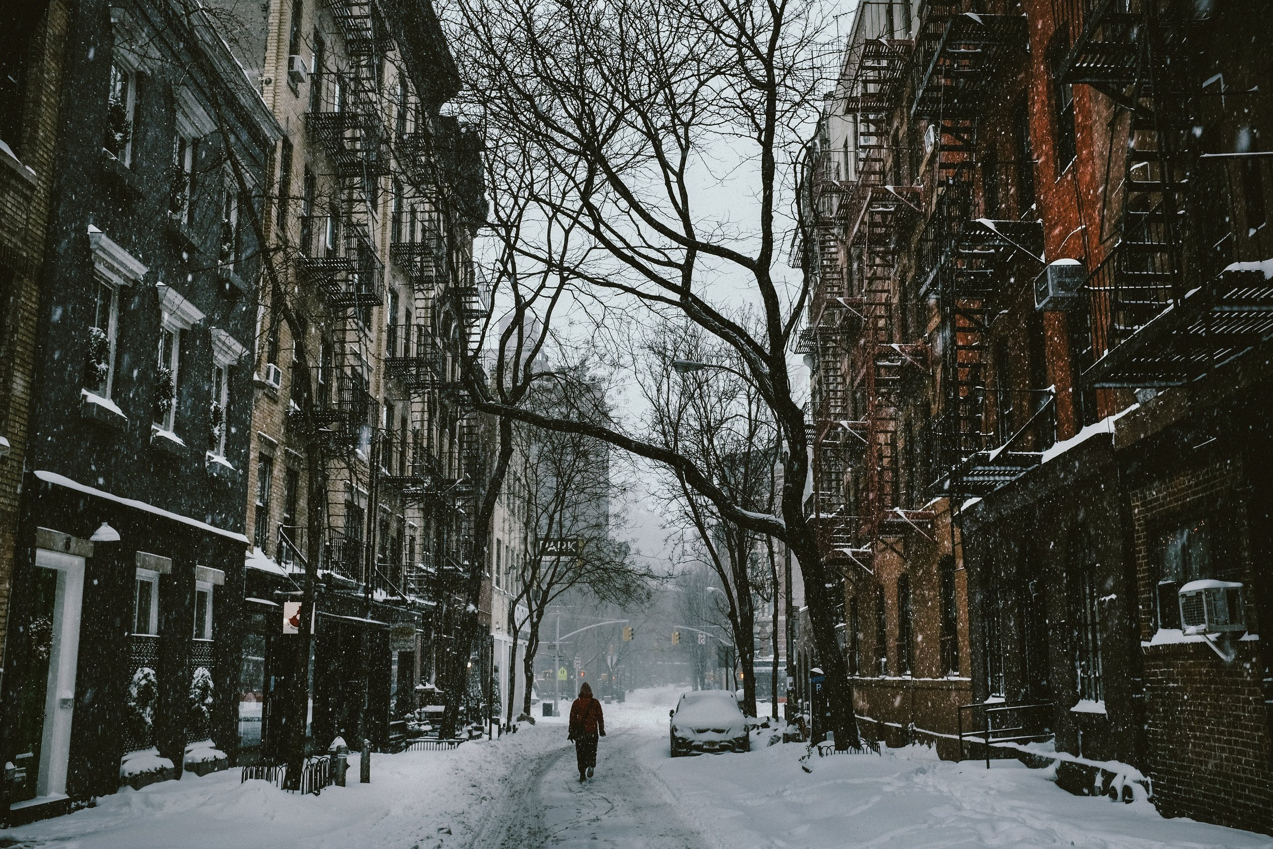 West Village in the wintertime
