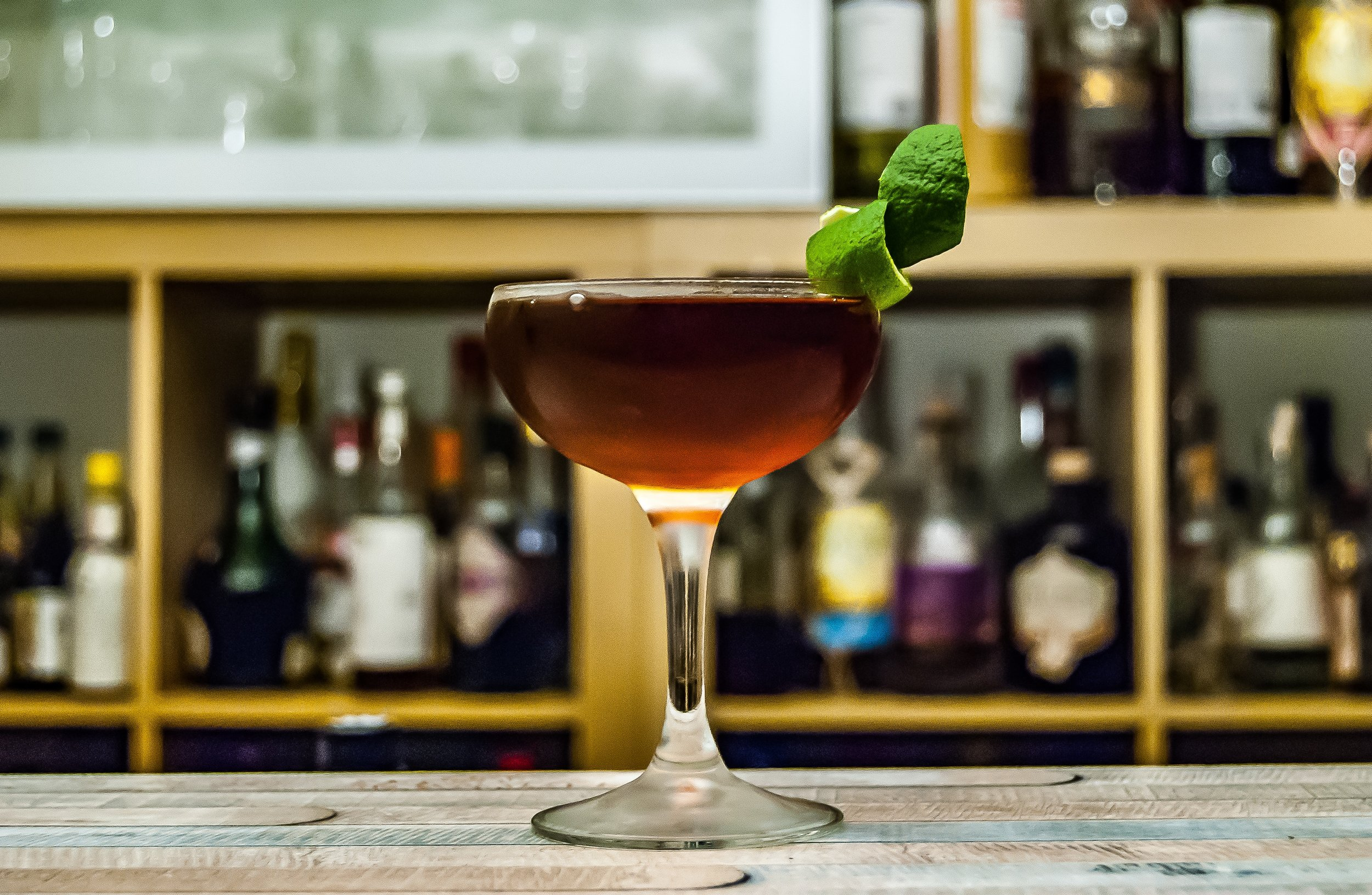 A carefully-crafted cocktail