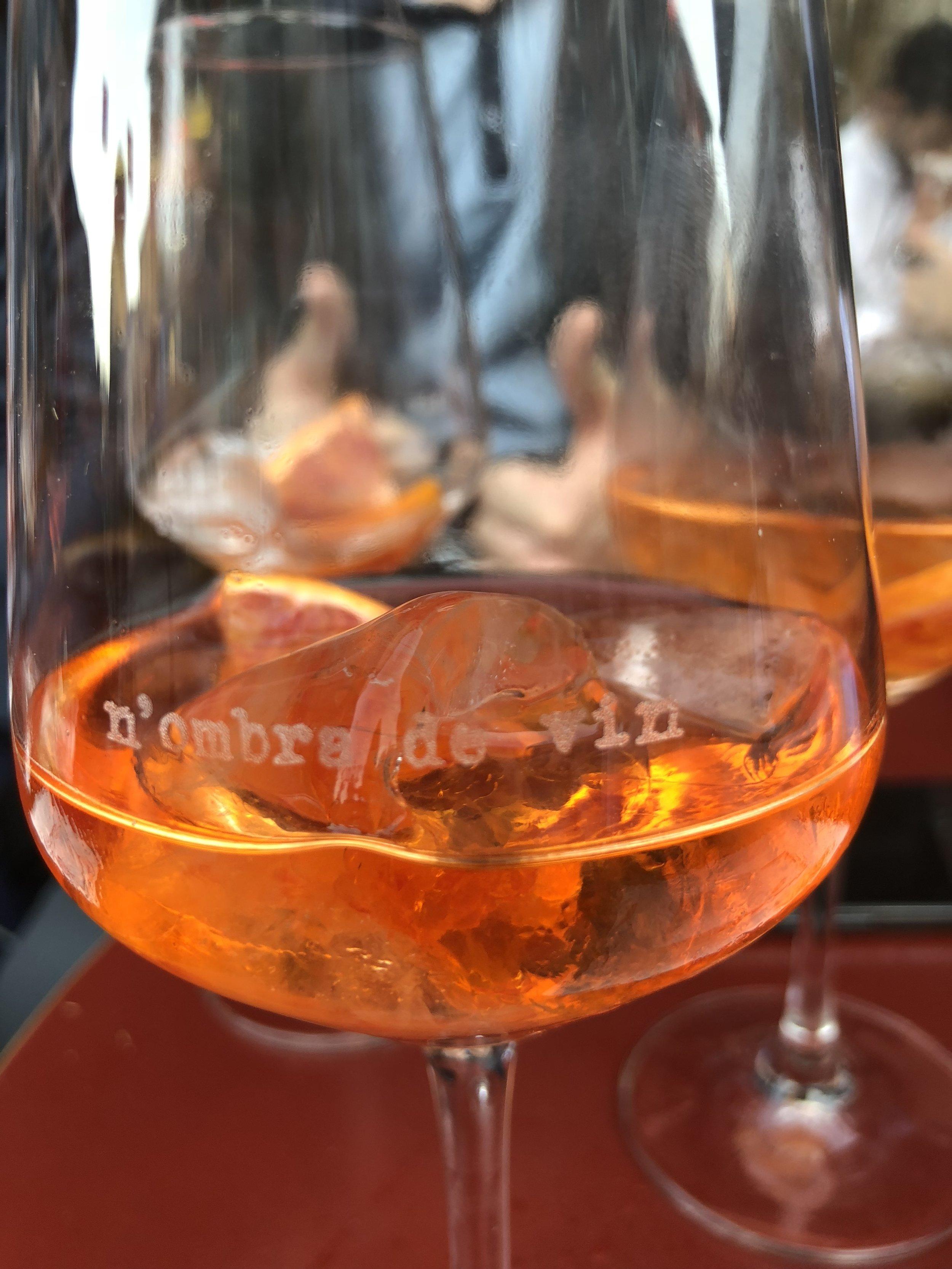 The perfect Spritz at Nombra de Vin