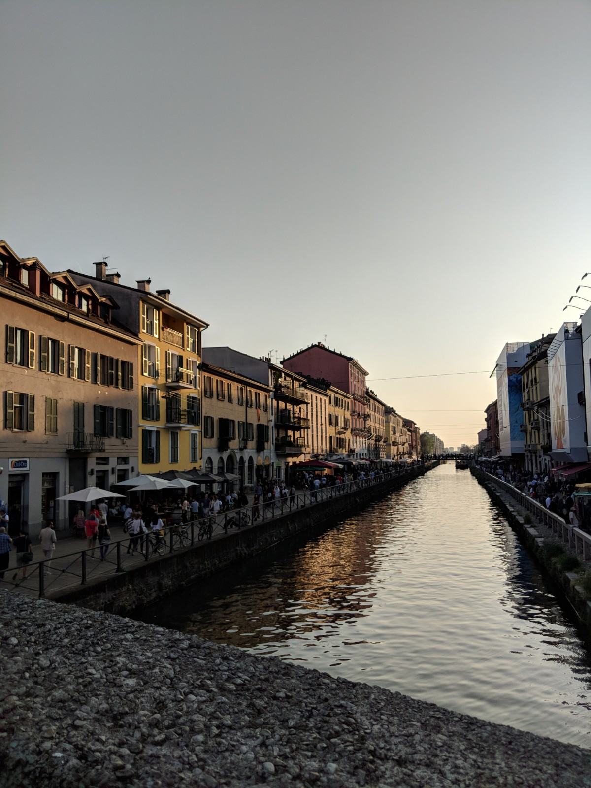Catch a sunset on the navigli near Tortona