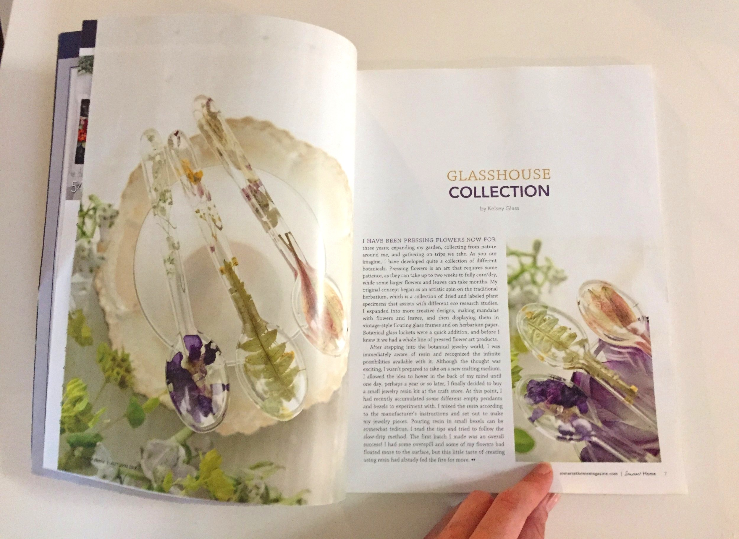 2018 Autumn Issue of Somerset Home Magazine  - Find out more about what makes us tick at Glasshouse Collections and our process.