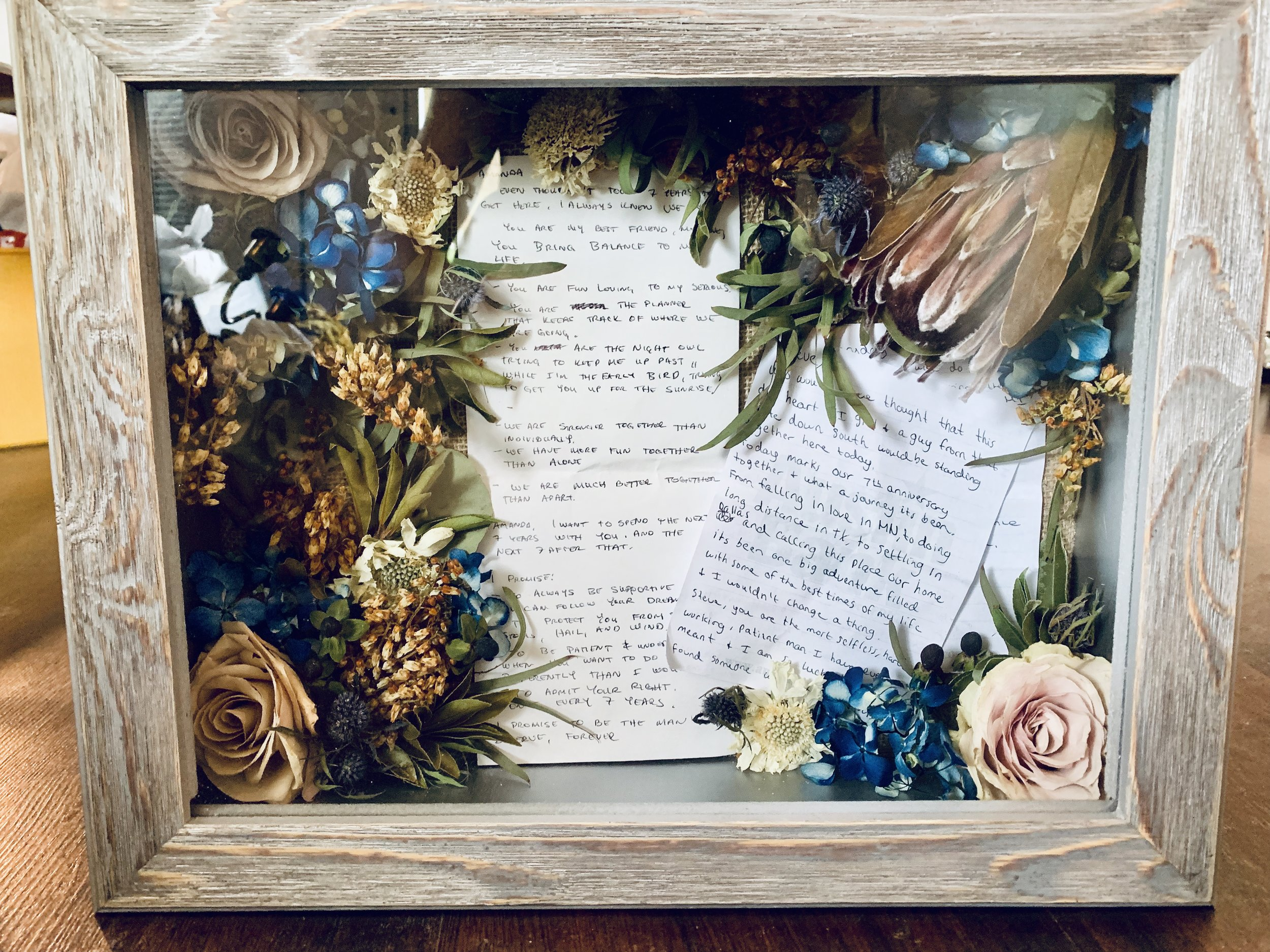 Wedding Bouquet Preservation Glasshouse Collection Preserved Flower And Resin Art