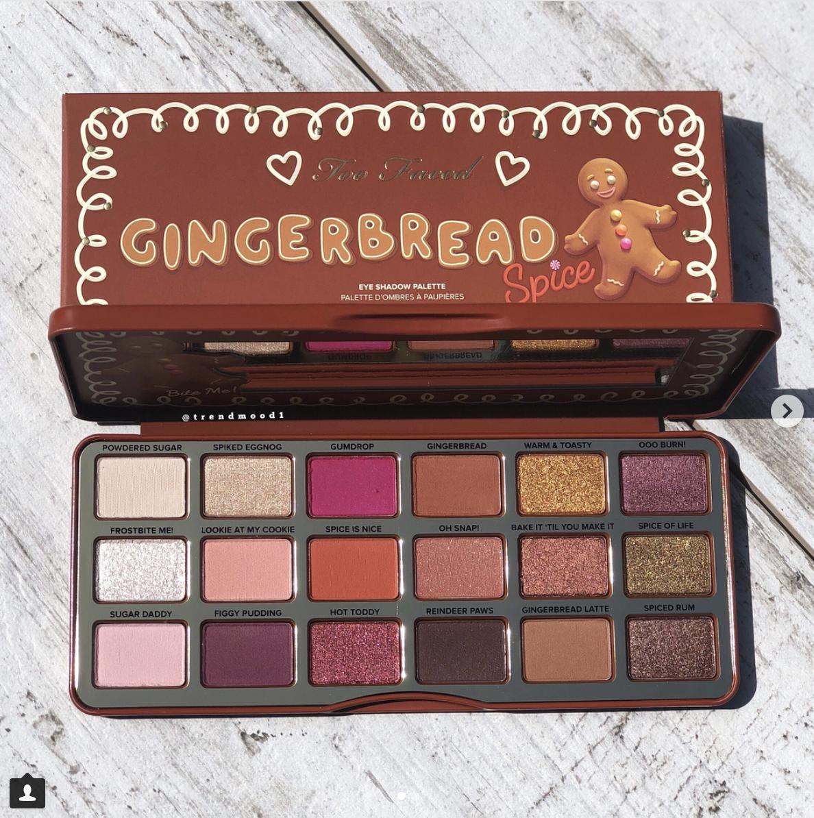 Palette d'ombres à paupières gingerbread - Too Faced - (prix inconnu)
