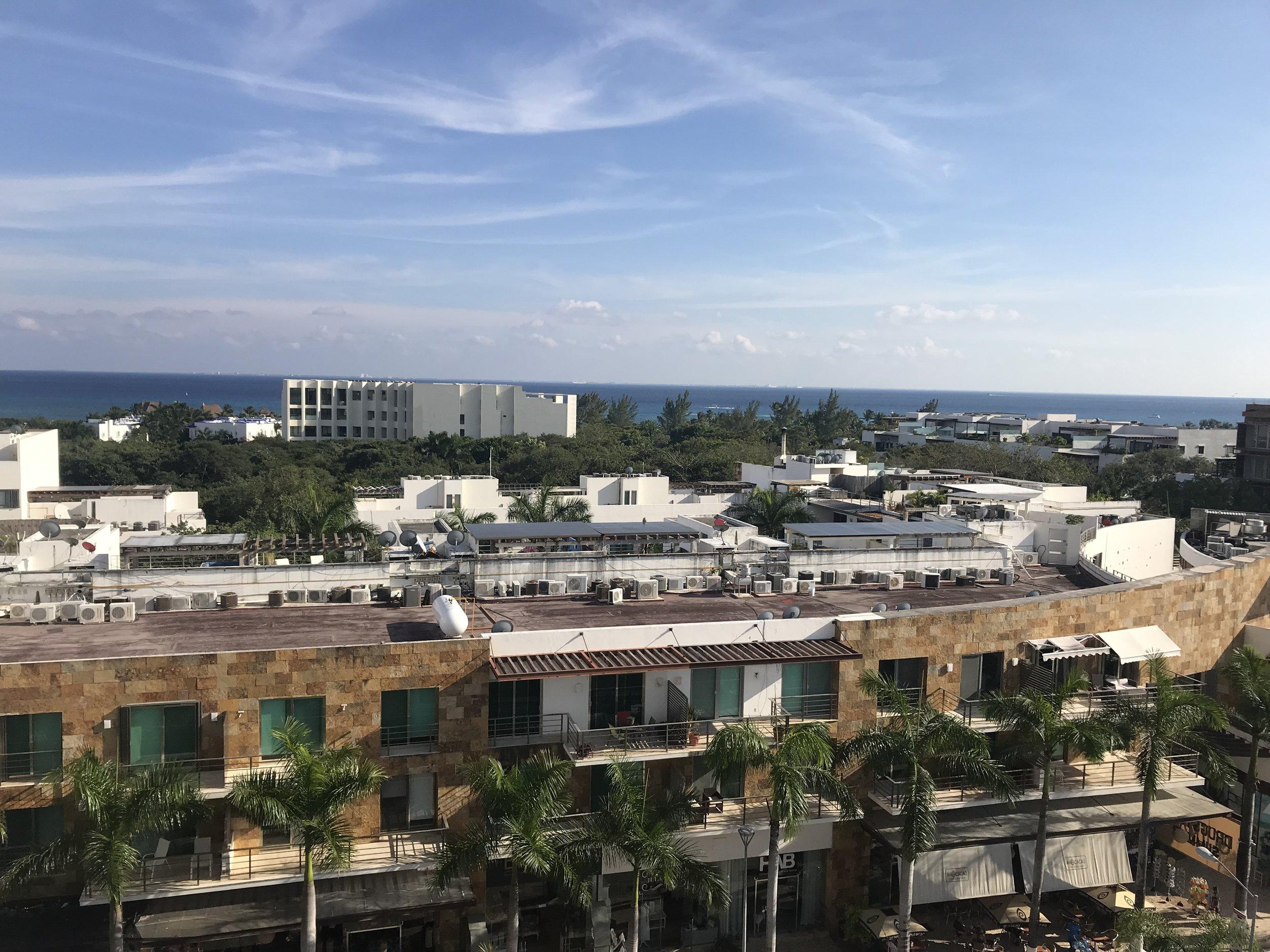 Vue du toit de l'immeuble