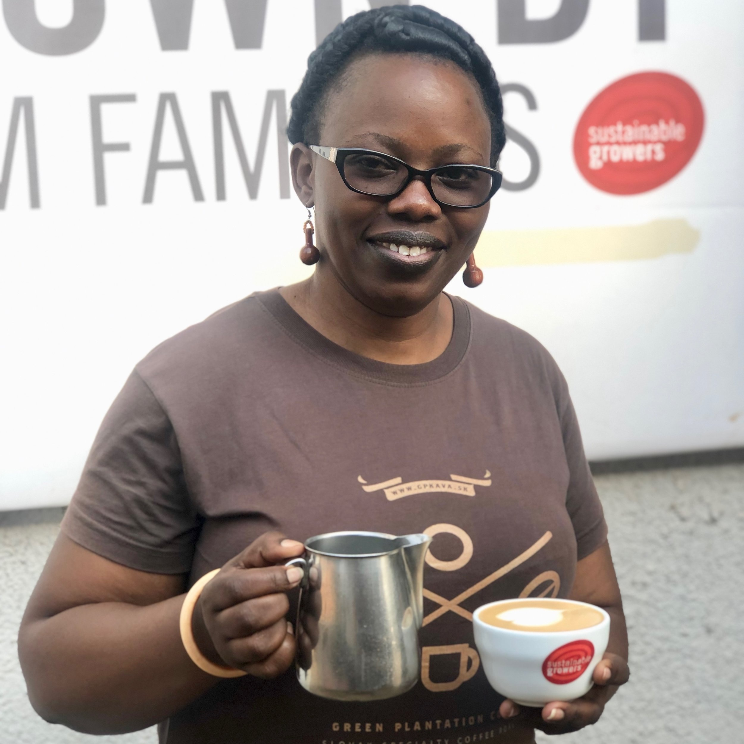 Perpetue Mukamusinga - Barista Training ManagerSustainable Growers Rwanda / Question Coffee CentreIn 2008, Perpetue began working at Bourbon coffee as head barista, later moving to Neo cafe as a coffee quality control in 2014. in 2016, she joined Sustainable Growers and Question Coffee a barista training manager. She was the first woman barista in Rwanda and has now been working in coffee for over 10 years. She is also certified by SCA in brewing and barista skills at the professional level.