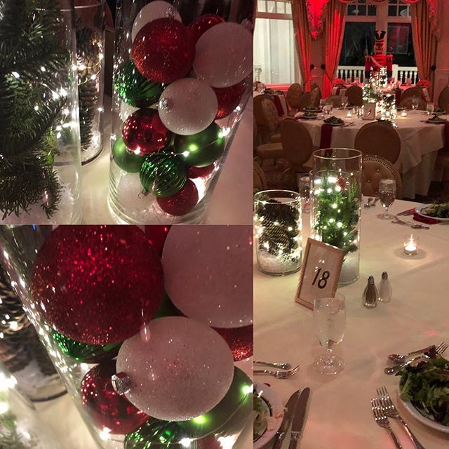 These centerpieces looked amazing last weekend.  Corporate holiday event.  EASY to make and gorgeous.  ##weddingplanningpodcast #weddinggown #holidayparty #centerpieces #wedding #bride #weddings #brides #newjerseywedding #newjerseybride #weddings #americanbride #makeyourweddingamazing #weddingpodcast  #weddinghacks #weddingamazing.  #weddingideas #weddingreceptionideas #weddingplanning the #perfectwedding #getting married #aprilkelly