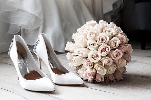 Make sure to wear your shoes for as many hours as you can to make sure they feel great on your wedding day.