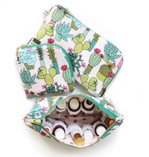Modern Makerie offers helpful and pretty oil bags! It's a fun shop!