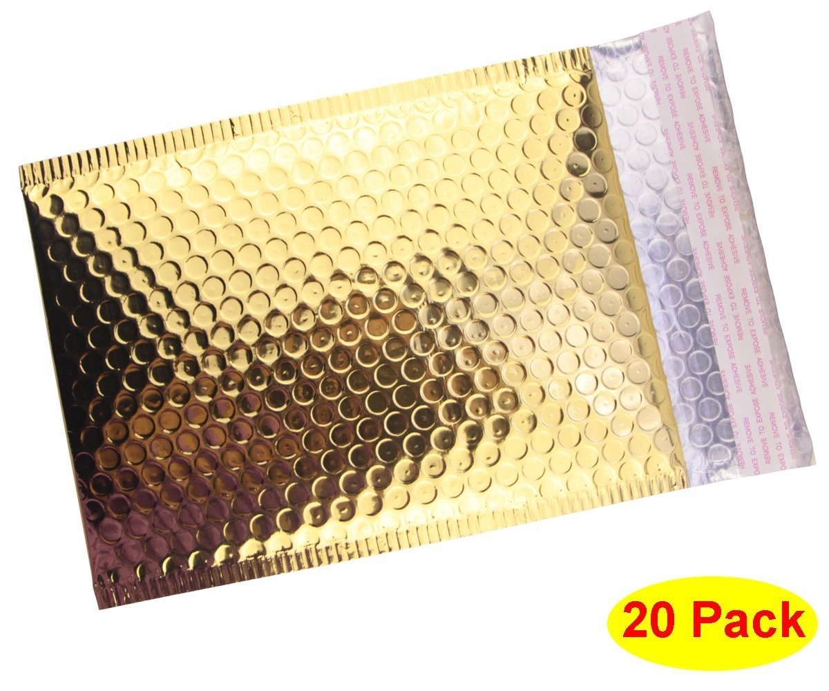 GOLD BUBBLE ENVELOPES   Make happy mail even more fun with these envelopes!