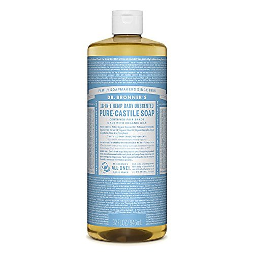 This UNSCENTED castile soap is a safe option to DIY soaps and shampoos. Simply add water and essential oils for various recipes!