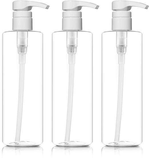 These 16 ounce pump bottles are perfect to hack our dish soap! Put half of the Thieves Dish Soap into one of the pump bottles, add two tablespoons of baking soda and a cap of Thieves Household Cleaner. Then, fill it up slowly with distilled water. This turns one into TWO in less than one minute!