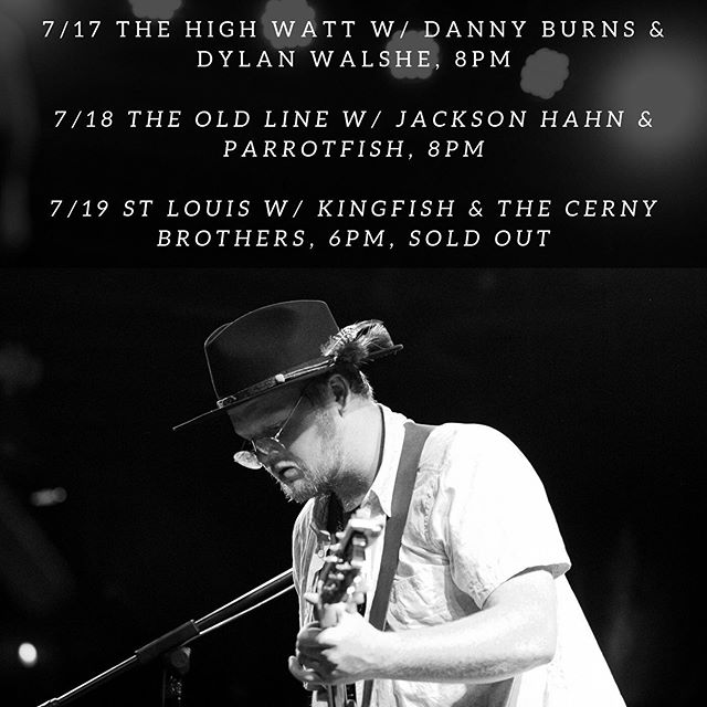 It's time to party this week! Nashville we got a wild one coming tomorrow with @dannyburnsband and a rowdy Sam's Jams with @parrotfishband and @jacksonhahn28 and finishing it off in STL with one of my favorite guitar players alive @_theycallmekingfish let's get it