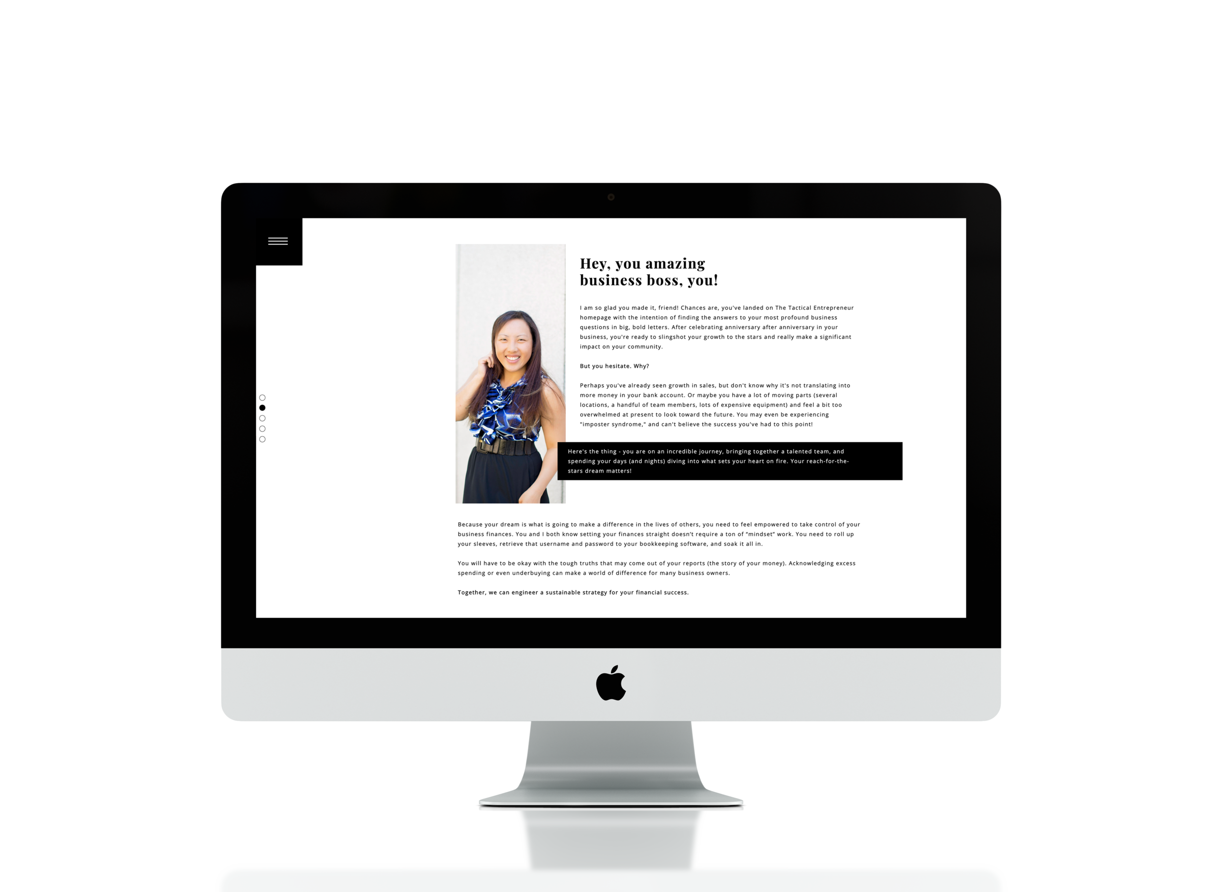 Website Copy by Emilie Steinmann. Design by Colleen Bies.   Visit the Tactical Entrepreneur