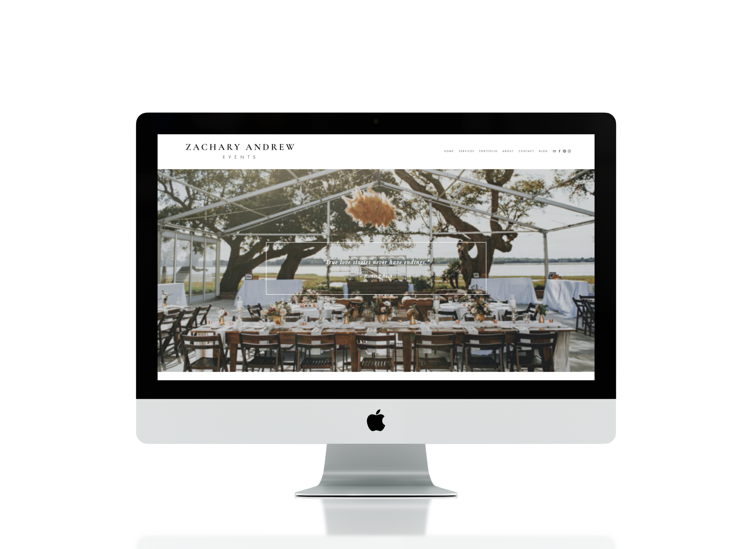 Website Copy by Emilie Steinmann. Design by  August + White .   Visit Zachary Andrew Events