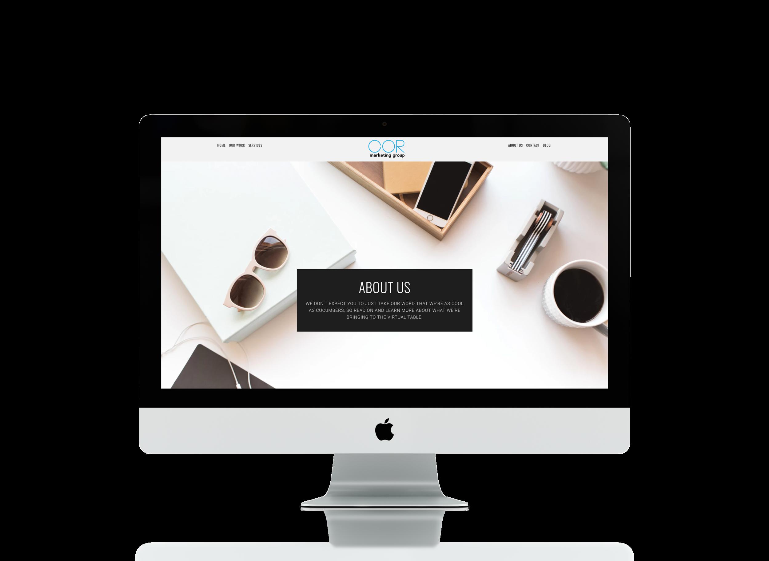 Website Copy by Emilie Steinmann. Design by Carey Osenbau.   Visit COR Marketing Group