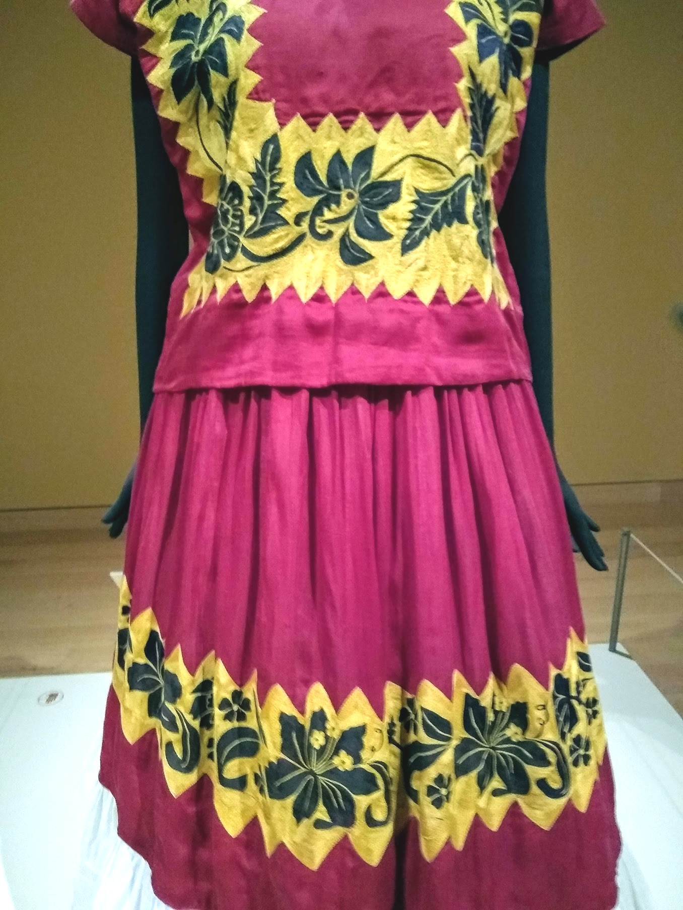 An outfit found in the locked bathroom. It belonged to Frida Kahlo.