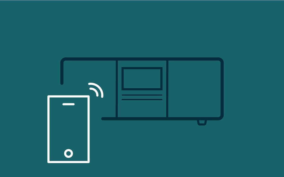 - FjernstyringSUPERSOUND 501 kan fjernstyres med Undok-appen for smarttelefoner eller den medfølgende fjernkontrollen