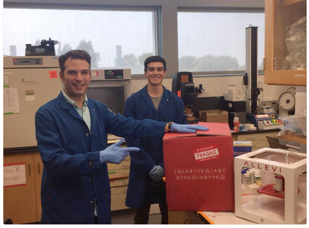 Allevi UC Davis University of California Davis bioprinter