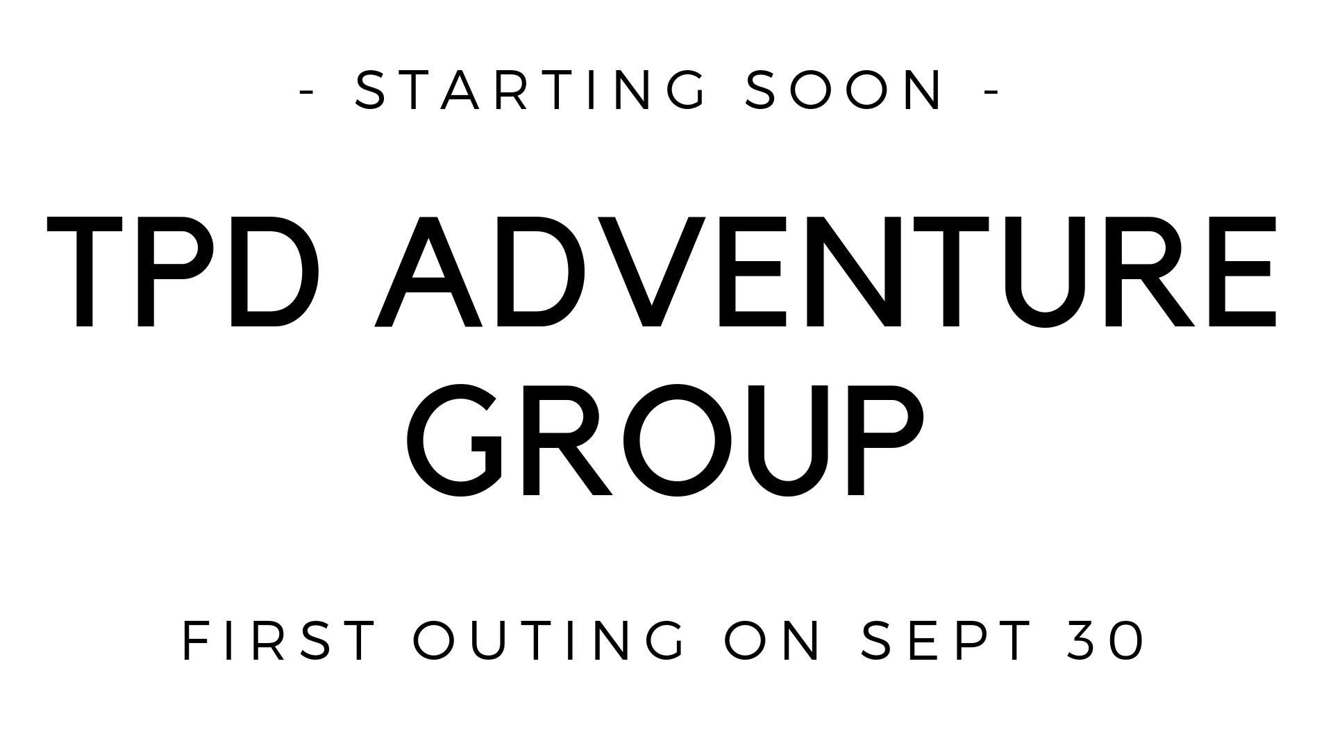The first ever TPD Adventure Group: On Sunday, Sept. 30 right after church, we'll be carpooling to the Indiana dunes for a hike, picnic and some fun on the beach there. Anyone is welcome, and this would be a great thing to invite people into who may not be familiar with our church. We're hoping to build from this and do many more outings going forward.