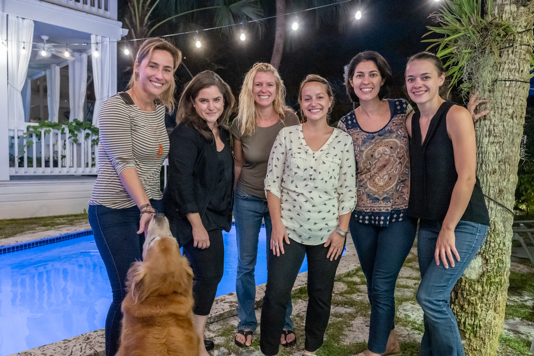Eliana, Leticia, Kirsten H., Meredith, Ana & Kirsten V. during our first evening get-together.