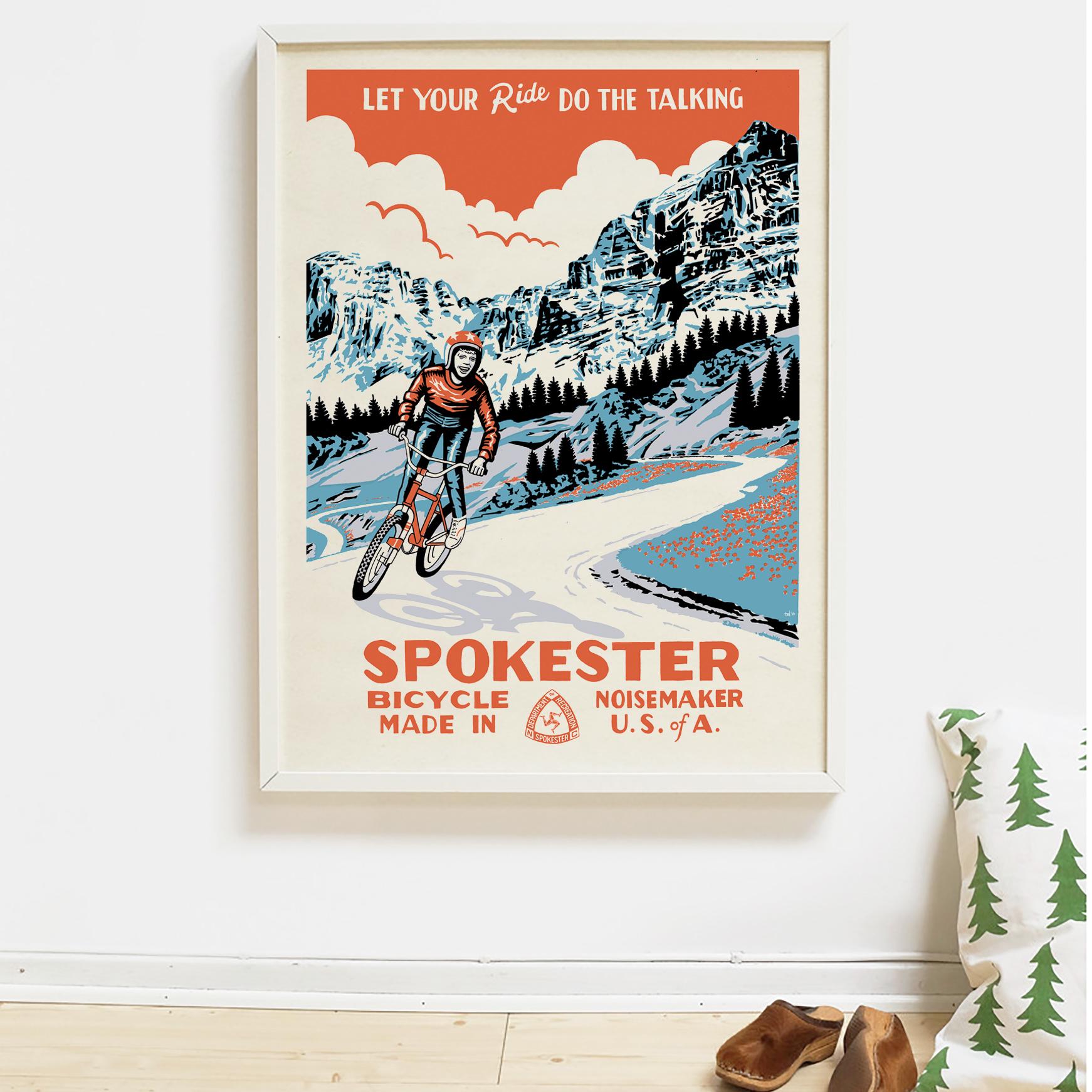 Spokester - Poster design, art direction
