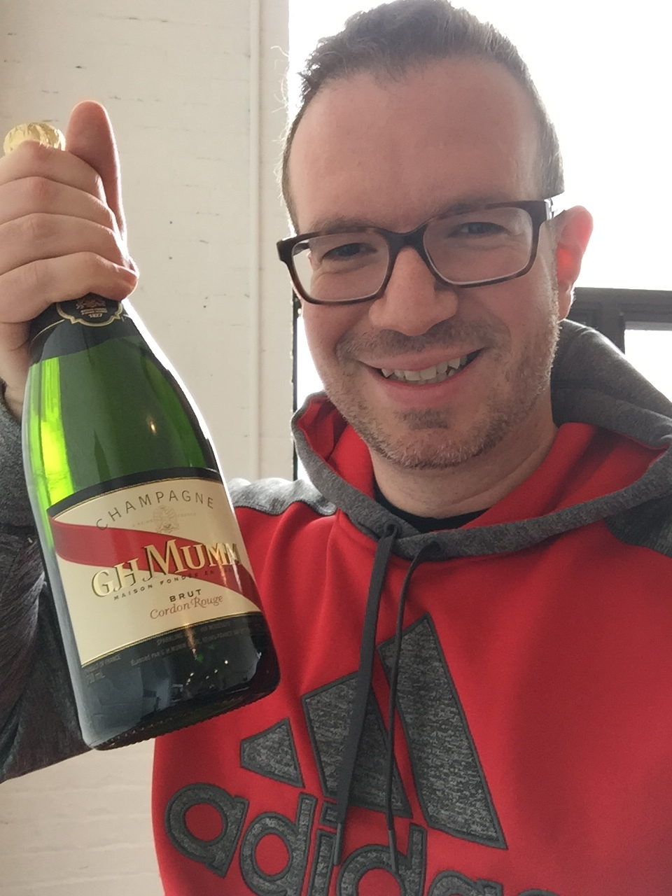 Celebrating wins with our friend GH Mumm