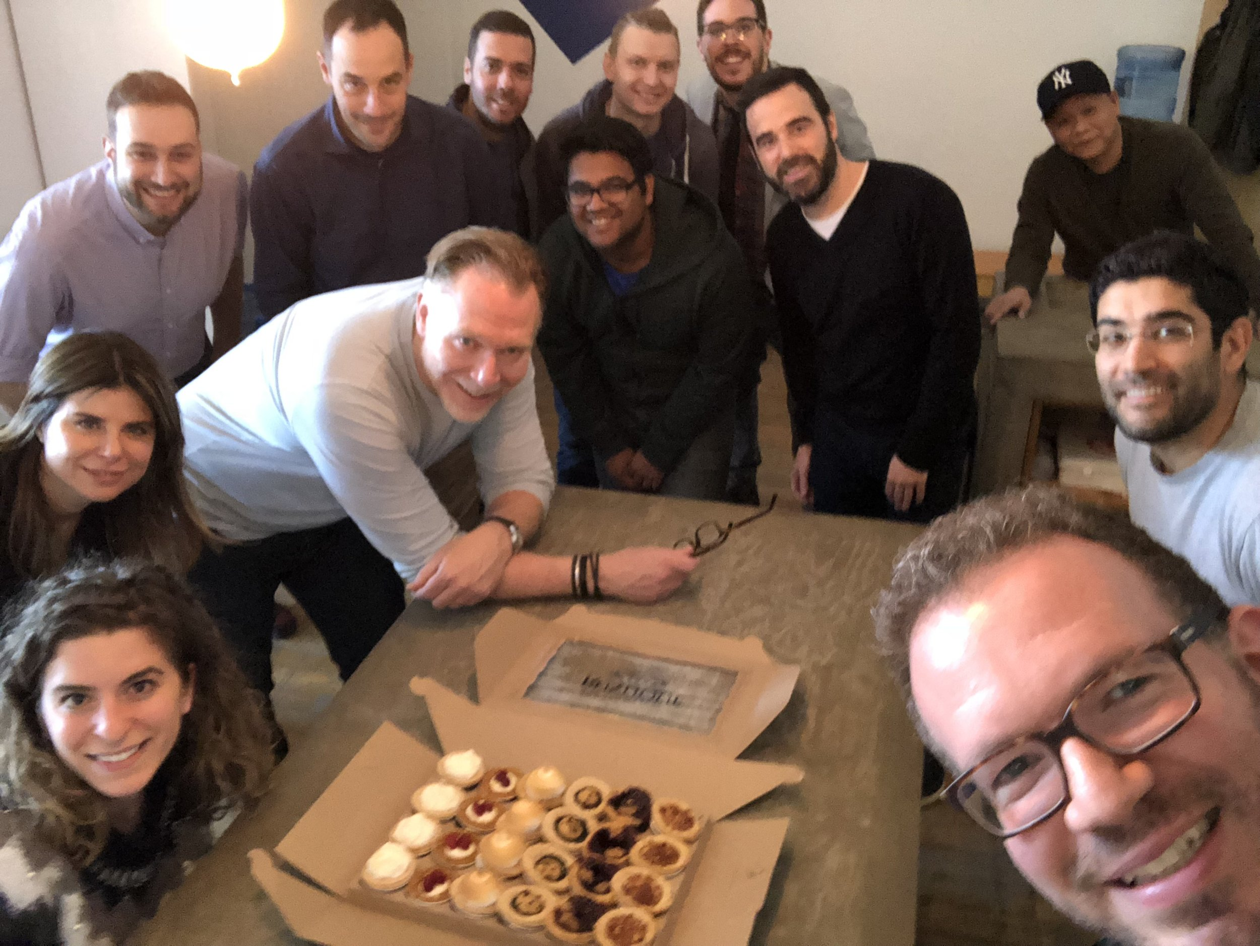 Celebrating with the Etiket team, one of our first customers!