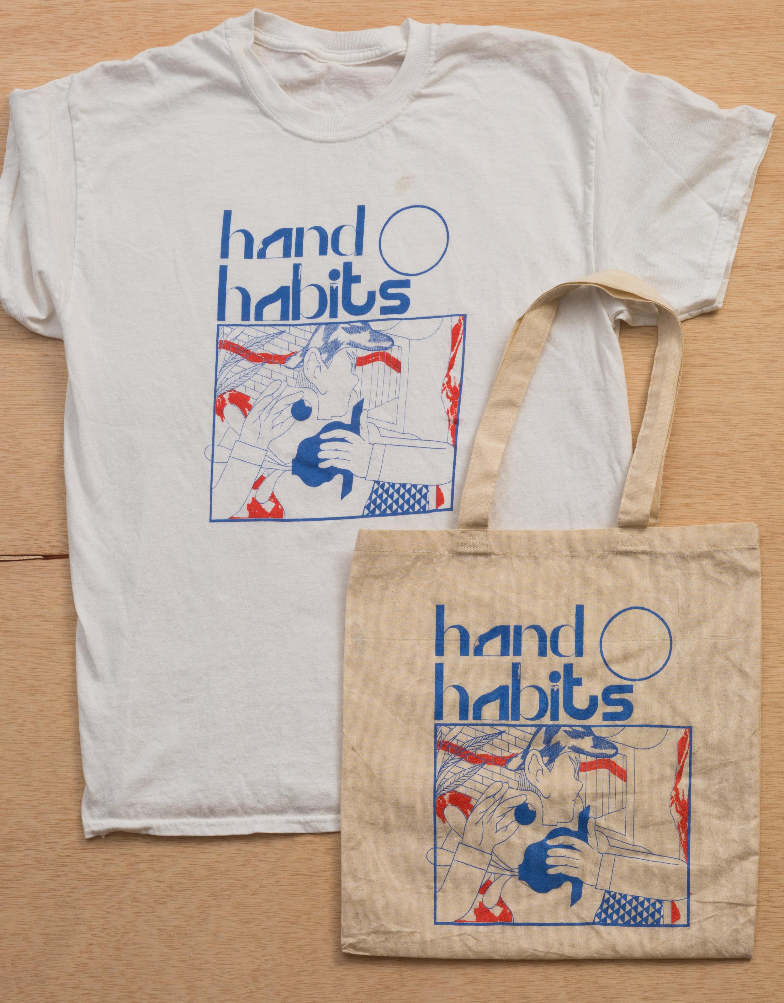 Hand Habits Screen Printed Tour Merchandise Beezer Printing