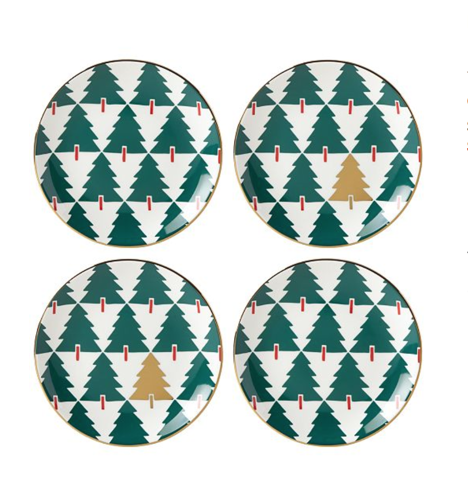 kate spade new york  Pine Street Collection 4-Pc. Tidbit Plate Set