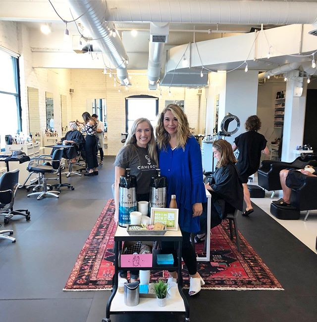 We had so much fun popping up at @cocoon_salon_msp with our friends from @cameronscoffee ! The team and space is so warm and kind. Want us to surprise your small business with some @cameronscoffee and @glamdolldonuts ? Check out @iamconnectedstudio and lookout for our next giveaway! ☕️💕☕️#RandomActsofCamerons