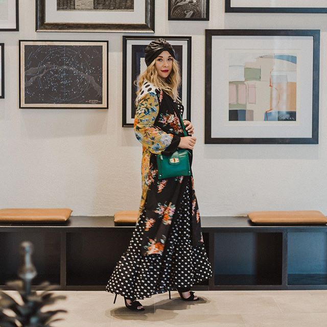 "Another look that will be for sale at my @canopyminneapolis ""shop my closet"" event on Tuesday, July 23! Free event, free cocktails sponsored by @prairieorganic and lots of patterns, textured and sequins because I don't know anything else! 😜 Photo by @cindiyang and styled by the talented @stylesparklesmile 💕"