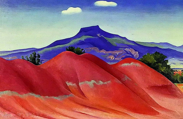 Modern-handmade-painting-georgia-o-keeffe-red-hills-with-pedernal-white-clouds-on-oil-painting-canvas.jpg_640x640.jpg