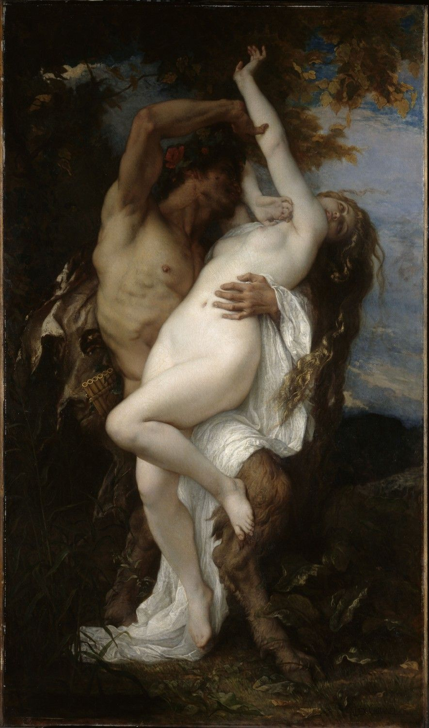 Nymph and Satyr -  Alexandre Cabanel (1860)