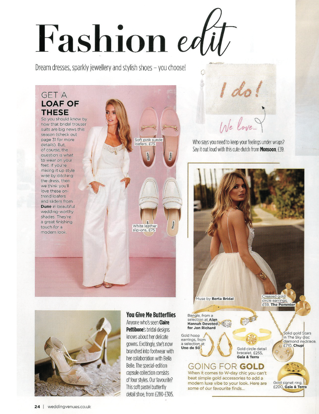 Wedding Venues & Fashion, Jan, Feb & March 2019. Featuring Diploria Circle Bracelet and Diploria Unisex Signet Ring.