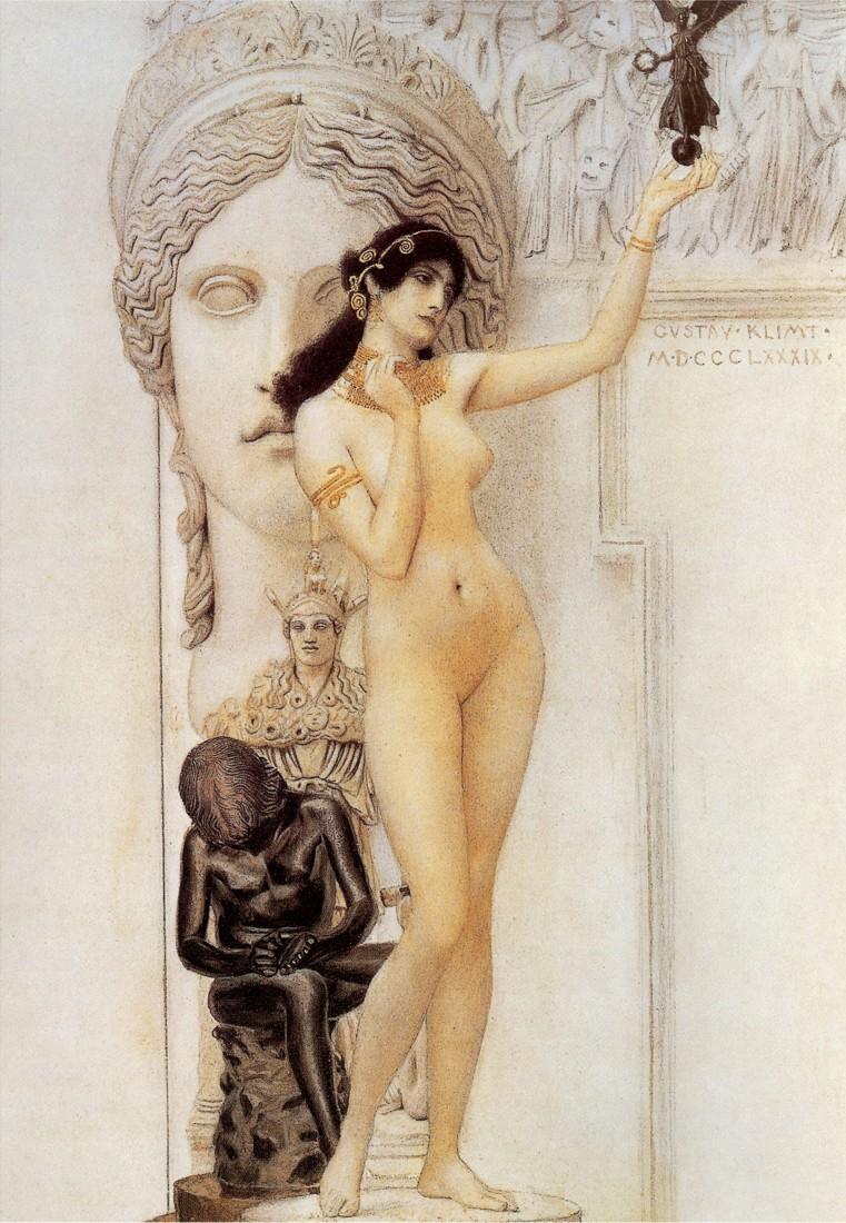 Allegory of Sculpture - Gustav Klimt (1889)