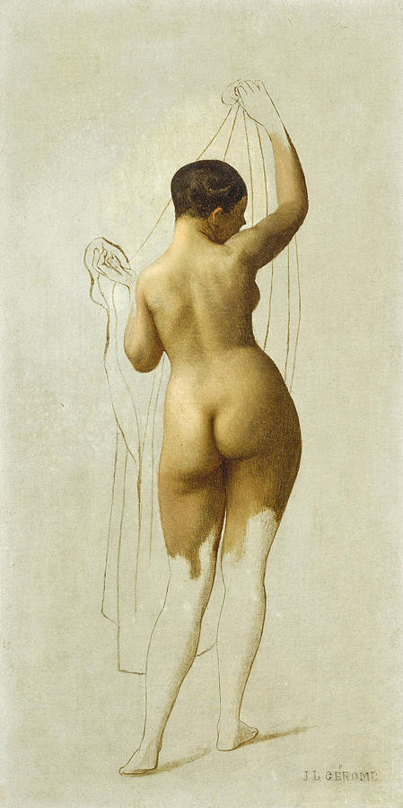 Nude (unfinished sketch) (also known as Queen Rodophe) - Jean-Léon Gerome