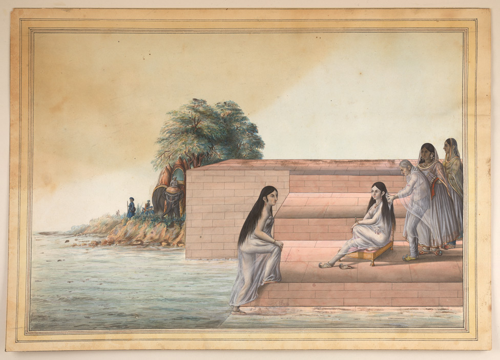 Woman bathing (c.1800)