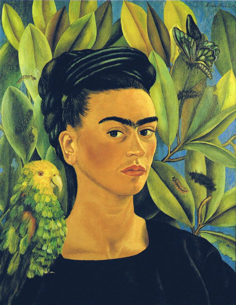 Self-Portrait with Bonito - Frida Kahlo (1941)