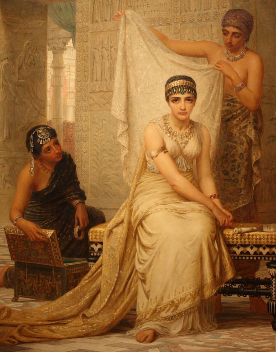 Queen Esther - a  Jewish  queen of Xerxes -  Edwin Long , 19th century.